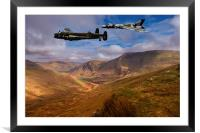 Avro over Wales, Framed Mounted Print