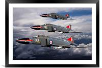 Navy Phantom formation, Framed Mounted Print