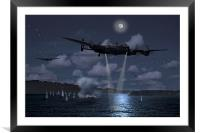 Dambusters Martins attack, Framed Mounted Print