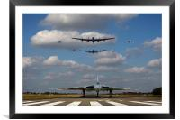 Vulcan and the BBMF, Framed Mounted Print