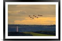 Red Arrows at Fowey 2014, Framed Mounted Print