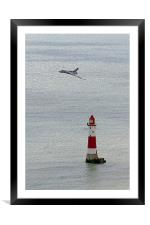 Vulcan XH558 and the Lighthouse, Framed Mounted Print