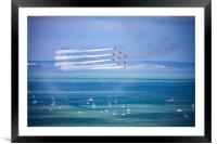 Red Arrows at Eastbourne air show, Framed Mounted Print