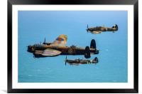 BBMF Eastbourne Beachy Head flypast, Framed Mounted Print