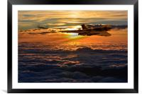 Vulcan bomber sunset 2, Framed Mounted Print