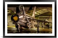 English Electric Lightning QRA shed, Framed Mounted Print