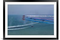 Red Arrows Goose Formation at Eastbourne, Framed Mounted Print
