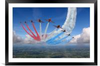 Red Arrows Smoke on Go, Framed Mounted Print