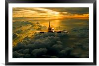 Concorde Supersonic Sunset, Framed Mounted Print