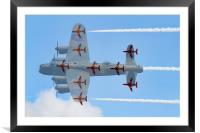 Red Arrows Lancaster formation, Framed Mounted Print