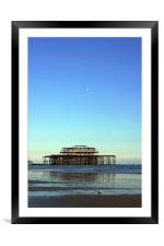 Brighton west pier 2, Framed Mounted Print