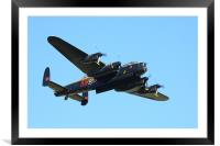 Lancaster PA474 Bomb Doors open, Framed Mounted Print