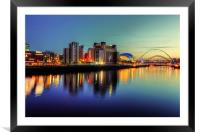 Reflecting on the Tyne, Framed Mounted Print