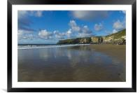 Trebarwith Strand, Framed Mounted Print