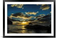Trebarwith Sunset, Framed Mounted Print