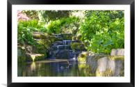 Flowing stream, Framed Mounted Print
