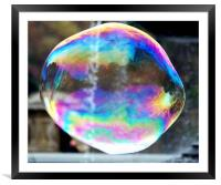 Big Bubble 2, Framed Mounted Print