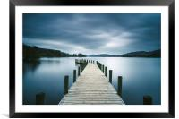 Jetty on Coniston Water., Framed Mounted Print