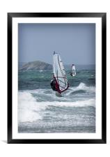 WIND SURFERS, Framed Mounted Print