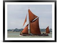 Thames Barge Repertor, Framed Mounted Print