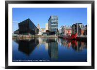 Liverpool reflections, Framed Mounted Print