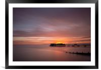 Cromer Sunrise, Framed Mounted Print