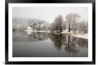 The Edge of Winter, Framed Mounted Print