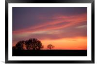 Afterglow, Framed Mounted Print