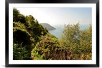 The South West Coast Path , Framed Mounted Print