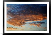 Clouds at Dawn, Framed Mounted Print