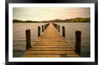 Jetty on Coniston Water, Framed Mounted Print