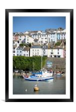 A Sunny Day in Brixham, Framed Mounted Print