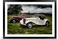 Classic MG Cars, Framed Mounted Print