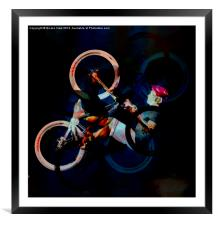 The Cyclist, Framed Mounted Print