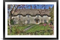 English Country Cottage, Framed Mounted Print