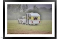 Retro Caravanning, Framed Mounted Print