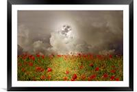Poppies By Moonlight, Framed Mounted Print