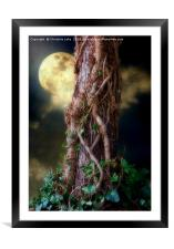 A Hunters Moon, Framed Mounted Print
