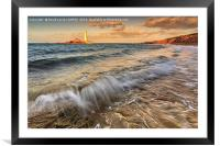 St Mary's Lighthouse, Framed Mounted Print
