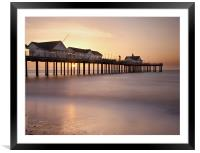 Southwold Pier at Sunrise, Suffolk, Framed Mounted Print