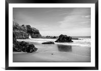 Lydstep Cavern Beach Pembrokeshire, Framed Mounted Print