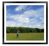 Lets go fly a kite!!!!!!!!!, Framed Mounted Print