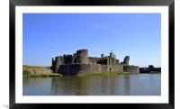 Caerphilly Castle, Framed Mounted Print