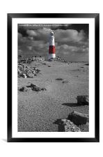 Red and White, Framed Mounted Print