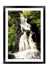 Dunvegan Castle Waterfall, Framed Mounted Print