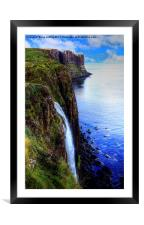 The Mealt Waterfall, Framed Mounted Print