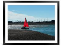 Red Sail, Framed Mounted Print