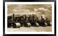 Steam Rollers 2, Framed Mounted Print