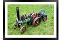 Miniature Traction Engine, Framed Mounted Print