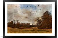 Where the Crows Fly, Framed Mounted Print